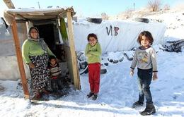 Cuộc sống khắc nghiệt trong mùa đông của người di cư Syria