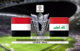 VIDEO Highlight trận đấu ĐT Yemen 0-3 ĐT Iraq (Bảng D Asian Cup 2019)