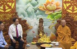 Chủ tịch UBTƯ MTTQ Việt Nam thăm Chủ tịch hội đồng Trị sự Giáo hội phật giáo Việt Nam
