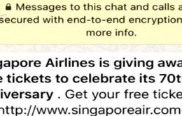 Singapore Airlines cảnh báo lừa đảo vé máy bay qua mạng