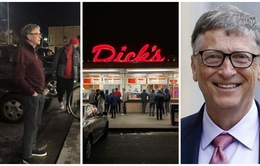 Tỷ phú Bill Gates xếp hàng mua đồ ăn nhanh giá rẻ