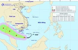 Tâm bão số 1 cách đất liền Nam Bộ khoảng 380km