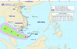 Tâm bão số 1 cách đất liền các tỉnh Nam Bộ khoảng 430km