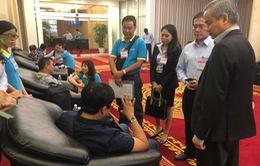 Hình ảnh 9 du khách tại sân bay Tân Sơn Nhất sau vụ đánh bom ở Ai Cập