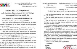 Điều tra việc làm giả văn bản của Chủ tịch tỉnh Đăk Lăk và Ngân hàng Nhà nước