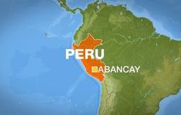 Lở đất tại Peru, 15 người thiệt mạng