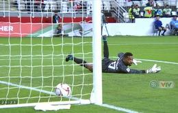 VIDEO: Sai lầm đáng trách của thủ môn ĐT UAE tặng cho ĐT Qatar một bàn thắng mở tỉ số