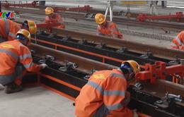 Lắp đặt hệ thống ray tuyến đường sắt đô thị Nhổn - Ga Hà Nội