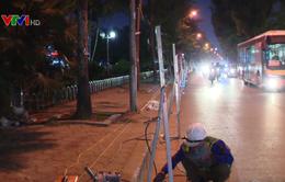 Hà Nội thi công mở rộng lòng đường xuyên đêm để kịp tiến độ