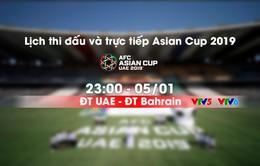 Lịch thi đấu và trực tiếp Asian Cup 2019 ngày 05/01: Chủ nhà ra quân