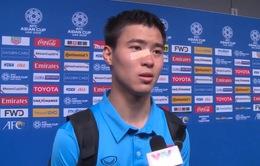 """Duy Mạnh: """"Đây thực sự là trận đấu khó khăn của ĐT Việt Nam"""""""