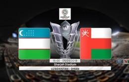 VIDEO Highlights Asian Cup 2019: ĐT Uzbekistan 2-1 ĐT Oman (Bảng F)