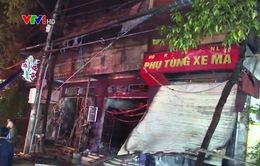 Cháy cửa hàng phụ tùng xe máy tại Lào Cai, 3 căn nhà hư hỏng nặng