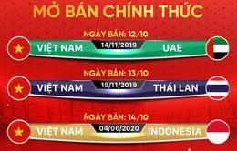 Vé online các trận sân nhà còn lại của ĐT Việt Nam sẽ được bán từ ngày 12/10