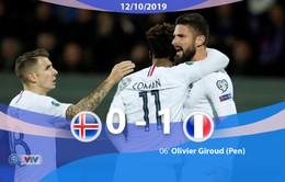 Iceland 0 - 1 ĐT Pháp: Pháp thắng nghẹt thở Iceland (Bảng H, Vòng loại EURO 2020)