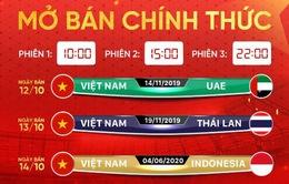 Mở bán vé 3 trận tiếp theo của Đội tuyển Việt Nam