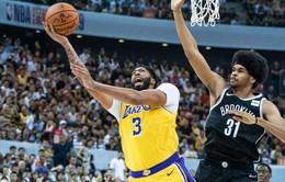 Los Angeles Lakers nhận thất bại trước Brooklyn Nets