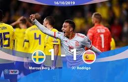 ĐT Thụy Điển 1 - 1 ĐT Tây Ban Nha: ĐT Tây Ban Nha giành vé tham dự EURO (Bảng F, Vòng loại EURO 2020)