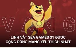 Chú chó Vàng được bầu chọn là bài thi linh vật SEA Games 31 được yêu thích nhất