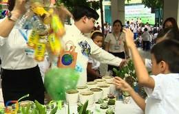 Học sinh Trường tiểu học Chu Văn An thực hành sống xanh