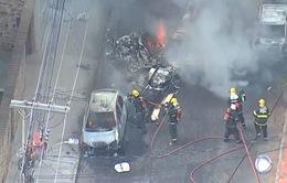 Máy bay rơi xuống đường phố tại Brazil, ít nhất 3 người thiệt mạng