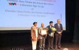 Hai nhà khoa học Việt Nam được Chính phủ Pháp vinh danh