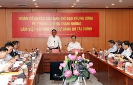 Kiểm tra phòng chống tham nhũng tại Bộ Tài chính