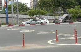 Sơn biển báo mặt đường chống ùn xe