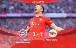 Lewandowski lập kỷ lục, Bayern Munich vươn lên đứng đầu BXH Bundesliga
