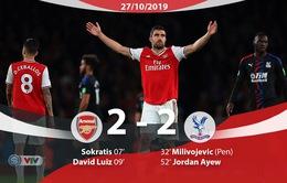 Arsenal 2-2 Crystal Palace: Pháo Thủ chia điểm đáng tiếc