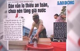 Đề xuất điều chỉnh giá nước sạch trên địa bàn Hà Nội