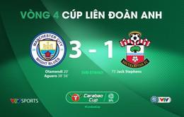 Man City 3-1 Southampton: Cú đúp của Aguero (Vòng 4 Cúp Liên đoàn Anh)