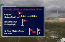 Cảnh báo mưa lớn gây lũ ở Trung Bộ và Tây Nguyên