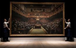 Giá kỷ lục cho bức tranh sơn dầu của danh họa Banksy