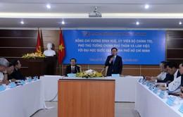 Phó Thủ tướng Vương Đình Huệ làm việc với ĐH Quốc gia TP.HCM