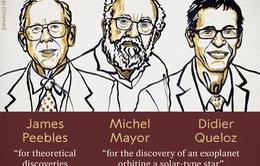 Giải Nobel Vật lý 2019 trao cho những nghiên cứu về vũ trụ