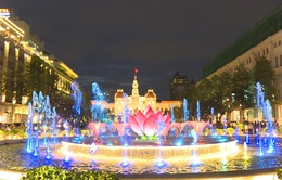 Khánh thành công trình đài phun nước nghệ thuật tại phố đi bộ.
