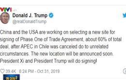 Sẽ sớm công bố địa điểm ký thỏa thuận thương mại Mỹ - Trung giai đoạn I