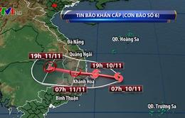 Hoàn lưu mây của bão số 6 gây mưa to ở một số tỉnh