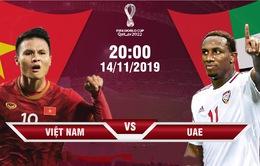 ĐT Việt Nam – ĐT UAE: HLV Park Hang Seo đặt quyết tâm giành trọn 3 điểm (20h00 hôm nay, 14/11)