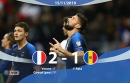 ĐT Pháp 2-1 ĐT Moldova: 3 điểm nhọc nhằn