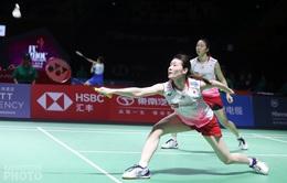 Bán kết giải cầu lông Hong Kong - Trung Quốc mở rộng 2019: Hạt giống số 1 nội dung đôi nữ bất ngờ bị loại!