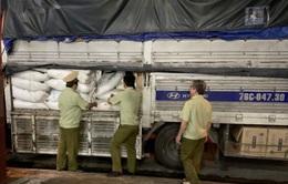 Quảng Ngãi: Tạm giữ 3 tấn đường nghi nhập lậu