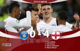 ĐT Kosovo 0 - 4 ĐT Anh: Thắng đậm đối thủ, ĐT Anh kết thúc vòng loại EURO 2020 mỹ mãn