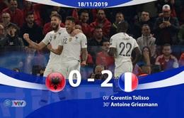 ĐT Albania 0-2 ĐT Pháp: Griezmann ghi bàn, ĐT Pháp thắng nhàn Albania