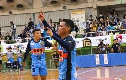 """Minh Trí, Thái Huy """"chào sân"""" ấn tượng giải Futsal Nhật Bản"""