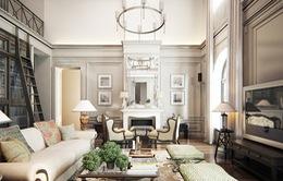 Căn hộ mang phong cách kiến trúc Pháp sang trọng