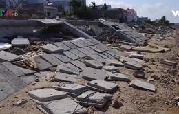 Bình Định: Kè sông 12 tỷ chưa nghiệm thu đã bị phá huỷ sau bão