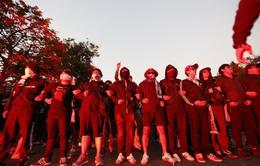CĐV Thái Lan máu lửa trước trận đấu với ĐT Việt Nam tại Mỹ Đình