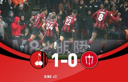 AFC Bournemouth 1-0 Man Utd: Joshua King ghi bàn duy nhất, Man Utd thua trên sân khách